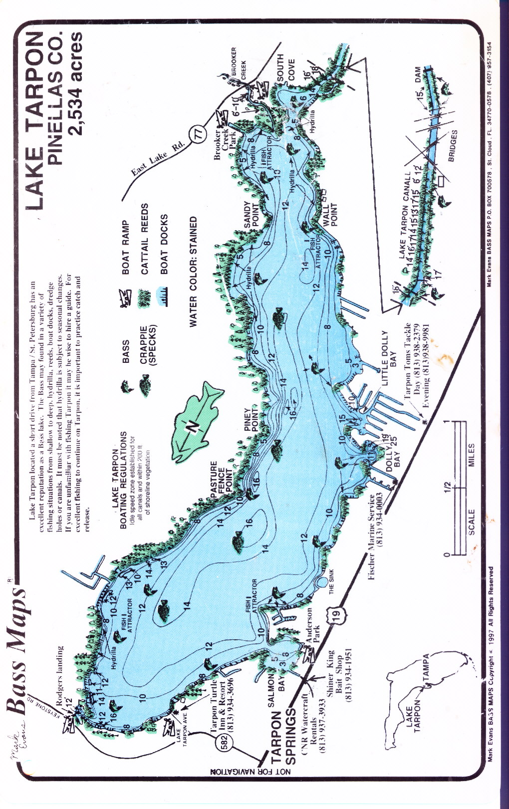 Lake tarpon maps for Lake tarpon fishing