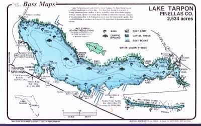 lake tarpon fishing map Lake Tarpon Maps lake tarpon fishing map